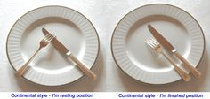 manners and etiquette images | Lisa Mirza Grotts: Table Etiquette: Two Different Styles of Eating