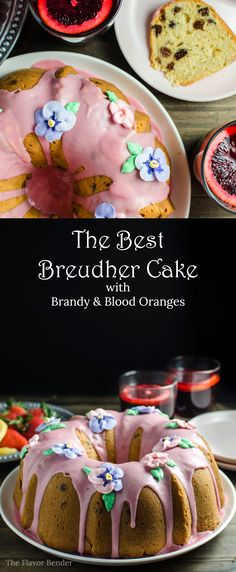 Sri Lankan Breudher Cake with a Blood Orange glaze - a sweet yeasted cake that is PERFECT for Celebrating Easter! A yeasted cake with a  touch of sweetness,  buttery and rich,  studded with raisins, from my childhood, with an extra dose of brandy and blood orange! #BRMEaster #CleverGirls #bobsredmill @bobsredmill