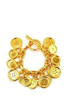 Chanel Button Charms Bracelet by What Goes Around Comes Around for Preorder on Moda Operandi