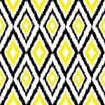 Diamond Ikat Yellow, Black & White
