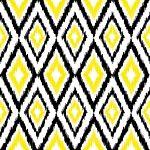 Diamond Ikat Yellow, Black & White