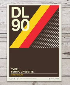Retro Graphic Design Of Cassette Labels Turned Into Gorgeous Typographic Posters
