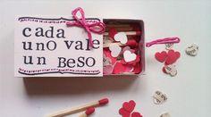 Caja de cerillas con corazones | Aprender manualidades es facilisimo.com