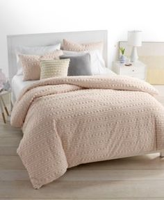 Whim by Martha Stewart Collection On The Dot Blush 3-Pc. Full/Queen Duvet Set, Only at Macy's - Pink