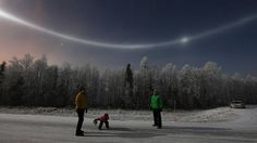 """2013: Sirkka (Finland), near the Levi ski resort """"It was down to the snow-making, as dozens if not hundreds of canon were making the course for the World Cup and elsewhere. When the clouds began to break, there were rainbow colours in the sky and a halo spanning 360 degrees!"""" continued Hänninen. """"It was worth taking a picture or two."""""""