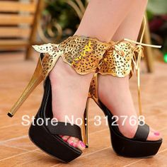 Brand New 2014 new queen High Heels platform Women sandals sexy lady summer thin heels shoes ankle wrap bowtie party shoes GZ $34