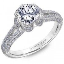 Save Scott Kay, Round Cut Engagement Rings, Bridal Rings, Jewelry Stores, White Gold, Metal, Metals