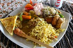 Balinese dish in Jatiluwih   Sonne & Wolken
