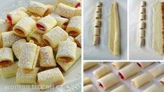 rolky-623x350 Baking Recipes, Cookie Recipes, Dessert Recipes, Canadian Food, Romanian Food, No Bake Cookies, How Sweet Eats, Food To Make, Delicious Desserts
