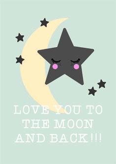 Poster maan & sterren A3 hippekidskamer