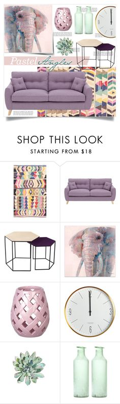 """Pastel Angles"" by tammara-d ❤ liked on Polyvore featuring interior, interiors, interior design, home, home decor, interior decorating, Balmain, nuLOOM, Sterling Industries and House Doctor"