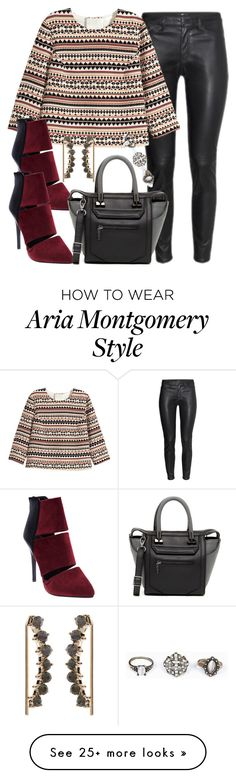 """Aria Montgomery inspired outfit"" by liarsstyle on Polyvore featuring H&M, Wet Seal, Danielle Nicole, Accessorize, Work and Semi"