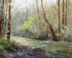 Tallulah, Early Spring - 16x20 Landscape Painting by Dianne Mize - NUMA Gallery