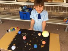 Great idea for making a model solar system from Holy Family Ingleburn