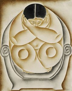 Mulher sentada, pintura de Vicente do Rego Monteiro