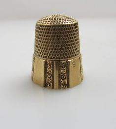 ANTIQUE-14K-YELLOW-GOLD-THIMBLE-SIMON-BROTHERS