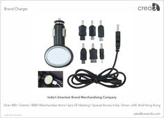 Brand Chargers for corporates by Crea - India's smartest brand merchandising company.