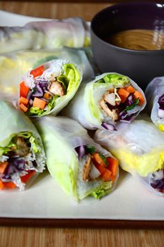 my cooking instinct Fresh Rolls, Food For Thought, Cooking, Asian, Ethnic Recipes, Kitchen, Spring, Easy, Wordpress