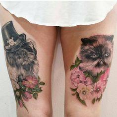 About the Persian Cat - Cat's Nine Lives Tattoo Care, Make Tattoo, Big Tattoo, Future Tattoos, Love Tattoos, New Tattoos, Persian Tattoo, Cat Online, Himalayan Cat