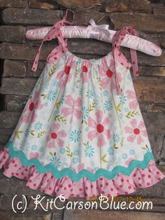 Pillow Case Dress/ Optional Matching Bloomers  by kitcarsonblue, $34.00