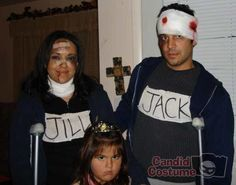 Jack and Jill...Aftermath, Couples,Funny,Fictional Character,funny Halloween 2015, Halloween Party Costumes, Halloween Treats, Costume Ideas, Nursery Rhyme Costume, Nursery Rhymes, Holiday Crafts, Holiday Fun, Destination Imagination