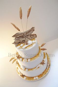 Seaside Themed Wedding Cake Pics Lick The Spoon Custom Cakes And Goos Pinterest Weddings