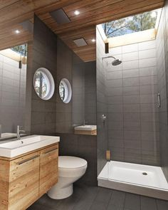 Prefab Container Homes, Building A Container Home, Container Buildings, Container House Design, Shipping Container Homes, Prefab Homes, Shipping Containers, Design Case, Modern Bathroom