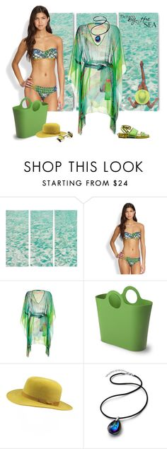 """""""Next Hot Bathing Suit Trend"""" by ysmn-pan ❤ liked on Polyvore featuring Água de Coco, Matthew Williamson, Authentics, SuperDuper Hats, Baccarat, contest and trendybathingsuit"""