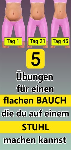 5 Übungen für einen flachen Bauch, die du auf einem Stuhl machen kannst 5 exercises for a flat stomach that you can do on a chair & The post 5 exercises for a flat stomach that you can do on a chair appeared first on Leanna Toothaker. Fitness Workouts, Yoga Fitness, Fitness Motivation, Physical Fitness, At Home Workouts, Health Fitness, Planet Fitness, Exercise Motivation, Fitness Routines