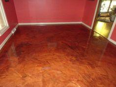Lima OH Metallic epoxy flooring. #lima #ohio