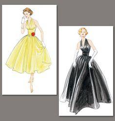 Vintage Vogue 2962 Misses' 4-18. Original 1957 design. Pure glamour - this one is a favourite!