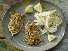 Überbackene Sardinen mit Kräuterbröseln und Fenchelsalat: Nicht aus der Büchse, sondern frisch werden die Sardinen hier aufgetischt.