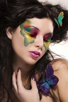 Halloween makeup- butterfly inspired