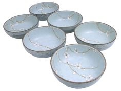 6 Inch Cherry Blossom Bowl Set