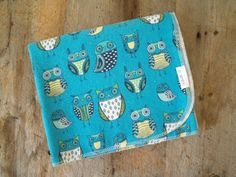 Extra Large Adorable Owl Flannel Receiving by yeSweetheart on Etsy