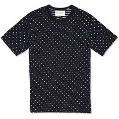 Our Legacy Mid Sleeve Jacquard Dots Tee (Navy)