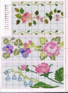 Rose flower cross stitch