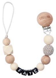 Speenkoord met naam   Lovelinn Teething Necklace, Fancy, Beige, Silver, Jewelry, Accessories, Jewlery, Jewerly, Schmuck