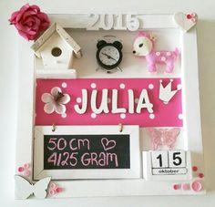 Geboortebord Julia ● Troetel.com