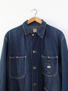 vintage 50s Lee barn coat men's denim work jacket by IronCharlie