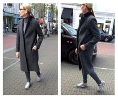 Just In Case jas met Ruby Tuesday leren broek en Premiata sneakers.  #Sneakers #Premiata #fashion #JustinCase #RubyTuesday