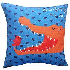 Cartoon Pattern Cotton/Linen Decorative Pillow Cover – AUD $ 18.05