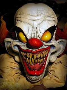 Pennywise Insane Clown Mask Is a Halloween Favorite! Halloween costume pin board by Asher Socrates. #halloween #costumes