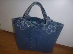 Resultado de imagen para bolsos hechos con jeans