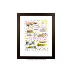 Clemson, SC Map Print – Evelyn Henson