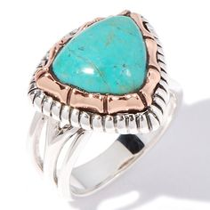 Studio Barse Turquoise Sterling Silver and Copper Ring
