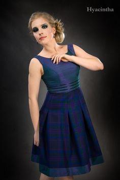 Hyacintha, a short dress with silk top | Kilts and Scottish Kilts from Edinburgh.