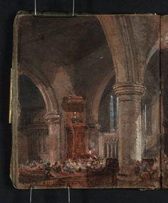 Joseph Mallord William Turner Interior Of A Church During Sermon