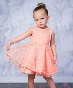 Loving this Pink Lace Dress - Girls on #zulily! #zulilyfinds