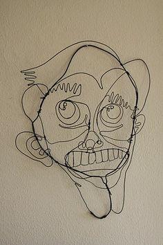 תוצאת תמונה עבור Sculpture Faces in the a length of wire Linear Art, Wire Drawing, Drawing School, Art Curriculum, Sculpture Art, Wire Sculptures, Wire Art, Art Sketchbook, Creepy